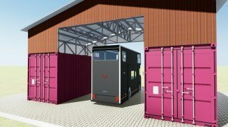Make Garage Out of Shipping Container