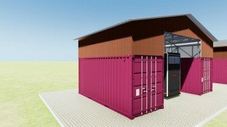 Shipping Container Car Garage