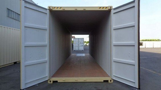 40' Shipping Container With Doors On Both Ends